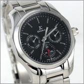 【萬年鐘錶】SIGMA日系 三眼時尚錶 1018B-1