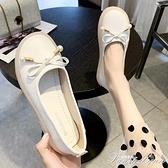 豆豆鞋女2021年新款淺口百搭韓版女單鞋懶人一腳蹬軟底護士鞋女夏 范思蓮恩