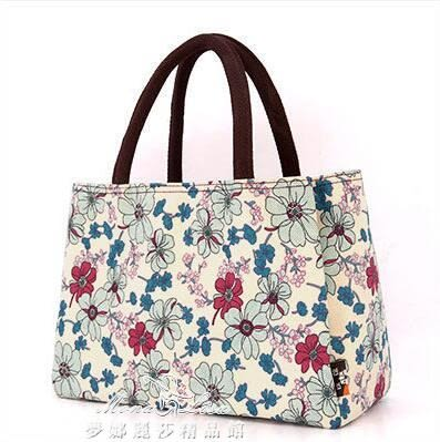 多層布外防水手提包女便當包 媽媽包手提袋小拎包帶飯包飯盒包 兩個組合裝『夢娜麗莎精品館』