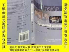 二手書博民逛書店Inside罕見Sales and Leases:What Matters & Why(Inside Series