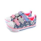 SKECHERS Twinkle 休閒運動鞋 電燈鞋 藍/粉紅 童鞋 20274LLBMT no103