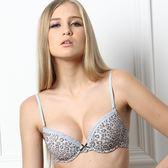 【PANS BRA】甜心豹紋系列B-D罩深V性感內衣(天使藍)