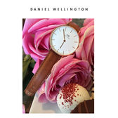 DW手錶 32mm玫瑰金框 Classic Petite 淺棕真皮皮革  - Daniel Wellington