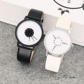 手錶情侶韓版簡約潮流大錶盤男女中學生創意手錶ulzzang個性男錶『小宅妮時尚』