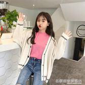 針織開衫 正韓慵懶風網紅毛衣女寬鬆撞色長袖針織衫開衫外套潮  名購居家