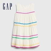 Gap女幼童時尚撞色邊飾無袖洋裝576339-光感亮白
