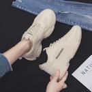 老爹鞋 夏秋季潮運動鞋新款超火透氣老爹鞋秋冬百搭小白女鞋-Ballet朵朵