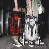 透明雙肩包大容量後背包反光立體PVC書包男女嘻哈【毒家貨源】