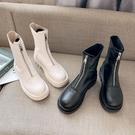 馬丁靴 馬丁靴夏季薄款女潮ins炸街2021年新款春秋單靴網紅白色瘦瘦短靴 美物