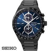 SEIKO 精工錶 黑鋼藍面三眼雙時區男錶 41mm SSC525J1 V195-0AE0A 公司貨 | 高雄名人鐘錶