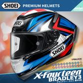[安信騎士] 日本SHOEI X-Fourteen X14 選手彩繪 BRADLEY3 TC-1 紅黑 全罩 安全帽