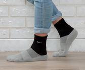Nacaco 運動襪首選 運動襪 吸濕排汗運動襪 抗菌運動襪 竹炭運動襪 除臭運動高筒襪 - 黑色【W001-03】