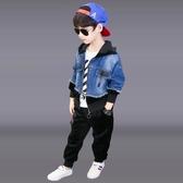 童裝男童秋裝套裝免運新款兒童運動男孩衣服洋氣帥氣三件套潮
