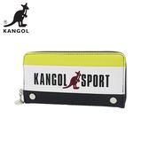 黃色款【日本正版】KANGOL SPORT 皮革 長夾 皮夾 錢包 KANGOL 英國袋鼠 - 080656
