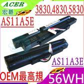 ACER AS11A3E 電池(OEM最高規)-宏碁 3830,4830,5830,3830T,4830T,5830T,AS3830TG,AS4830TG,AS5830TG,AS11A5E