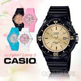 CASIO手錶專賣店 LRW-200H-9E 兒童錶 防水100米 膠質錶帶 可旋轉錶圈 日期顯示 黑色金面 LRW-200H