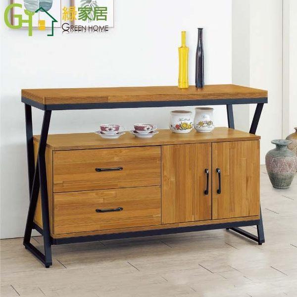 【綠家居】凱琳 工業風4尺二門二抽餐櫃/收納櫃