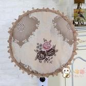 落地式全包式風扇套子電扇罩電風扇罩子防塵罩圓形家用布藝外罩蓋 快速出貨
