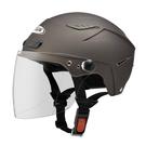 【東門城】ZEUS ZS126DC 素色(消光黑銀) 半罩式雪帽 二分之一帽