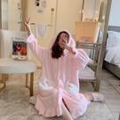 浴袍 冬季珊瑚絨睡衣女加厚可愛法蘭絨加絨大碼寬鬆長款睡袍浴袍家居服
