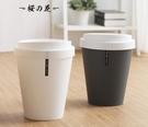 ▶創意歐式大號翻蓋垃圾桶簡約時尚可愛客廳衛生間有蓋小號圓筒紙簍