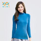【WIWI】MIT溫灸刷毛立領發熱衣(翡翠藍 女S-2XL)