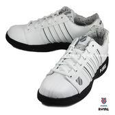 K-SWISS 新竹皇家 EADALL 白/黑色 皮革 休閒鞋 男款NO.A8800