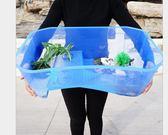 (只能宅配)超級大烏龜缸長60寛34(空缸) 兩棲烏龜缸曬台巴西龜缸烏龜盒養烏龜的缸水龜別墅