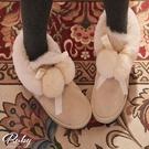 靴子 毛球蝴蝶結保暖雪靴-Ruby s ...