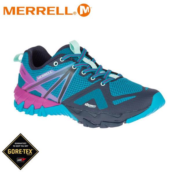 【MERRELL 美國 女 Mqm Flex Gore-Tex 低筒登山鞋《湖水藍》】19648/運動鞋/健行鞋/短靴/防水