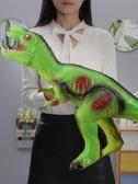 超大號仿真軟膠恐龍玩具霸王龍模型套裝 cf