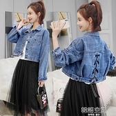 2021春秋新款女寬鬆韓版網紅高腰牛仔外套短款流行百搭小個子衣服
