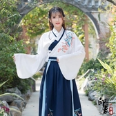 漢服古裝原創改良明制漢服女民族風刺繡日常交領上襖下襦兩件套
