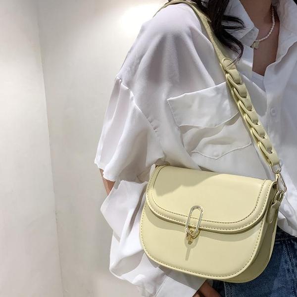馬鞍包 今年流行包包2021新款時尚潮質感小眾側背女包簡約百搭斜背馬鞍包 伊蘿