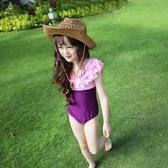 兒童泳衣小中大童公主女孩韓版女童連體泳衣寶寶游泳衣童裝親子裝 韓語空間