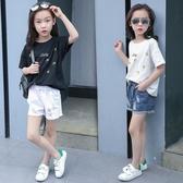 2019夏季女童牛仔短褲破洞薄款中大童小女孩外穿白色韓版時尚熱褲