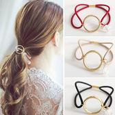 圓環水晶感設計髮圈 髮飾 彈性髮圈 造型髮飾