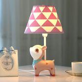 小鹿可調光LED台燈臥室床頭燈 暖光溫馨創意兒童房可愛公主女孩igo