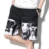 夏季短褲子男士加肥加大碼潮牌胖人寬鬆直筒五分褲沙灘褲運動休閒