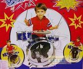 麗嬰兒童玩具館~兒童中型爵士鼓~加值普及版三鼓一鑼附椅子~愛音樂呦