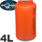 【Sea To Summit 澳洲 30D 輕量防水收納袋4L橘】STSAUDS4/收納袋/裝備袋
