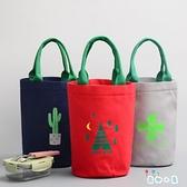 便當包保溫桶套飯盒包帶飯的手提袋拎飯包零食袋子帆布【奇趣小屋】