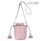 側背包 輕甜系流蘇束口小型水桶包 2色-La Poupee樂芙比質感包飾 (現貨+預購)