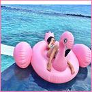 送電動打氣筒 粉色 火烈鳥 白色白天鵝游泳圈150CM - 歐美暢銷甜美救生圈 成人獨角獸遊泳圈 E起購