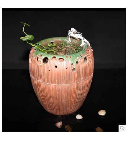陶瓷噴泉 棗形流水器