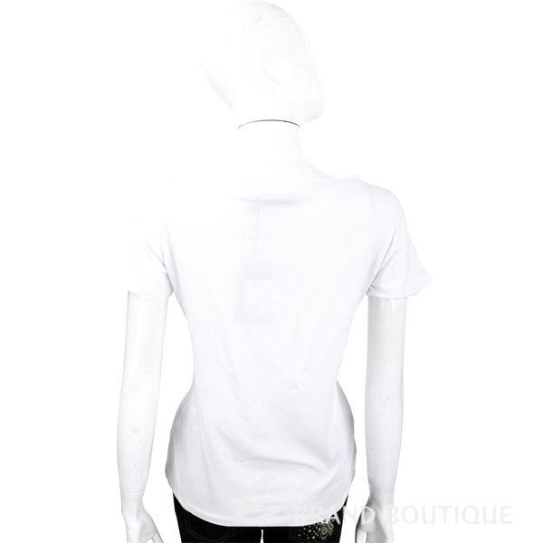 TRUSSARDI 白色品牌LOGO貼飾棉質短袖T恤 1620446-20