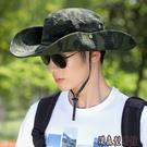 漁夫帽男夏季帽子迷彩大檐遮陽帽戶外登山防曬太陽帽男士騎車旅游 傑森型男館