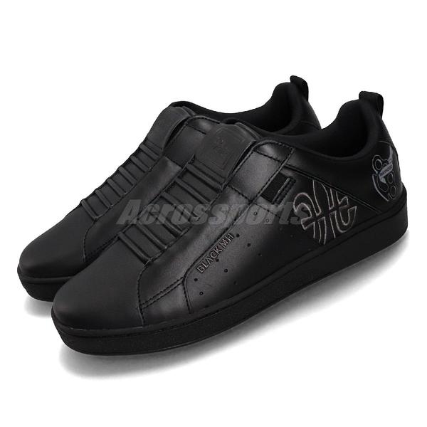 Royal Elastics 休閒鞋 Icon Manhood 黑 全黑 無鞋帶 手指虎塗鴉 男鞋 【PUMP306】 02093990