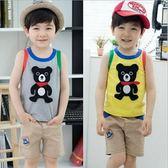 韓版《可愛小黑熊》可愛背心套裝(ALH)