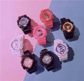 兒童手錶 原宿手錶女中學生韓版簡約休閒大氣糖果色防水潮流電子錶 麻吉部落